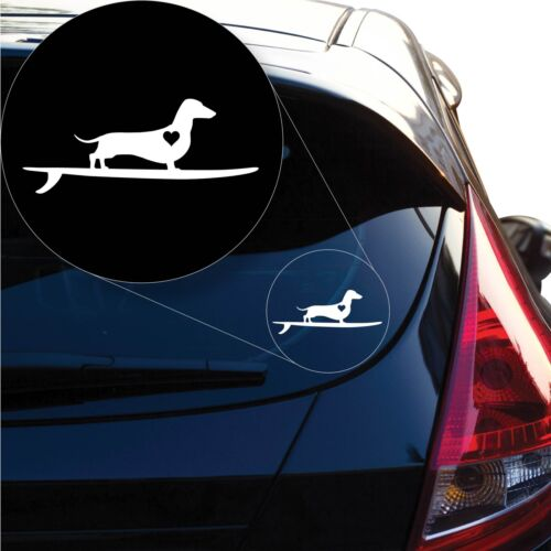 # 1265 Wiener Dachshund on board Decal Sticker for Car Window Laptop and More