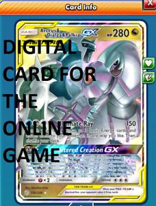 DIGITAL Arceus /& Dialga /& Palkia GX Full Art pokemon tcg online