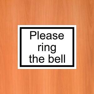 Please ring the bell sticker 9404 Weatherproof self-adhesive vinyl sticker