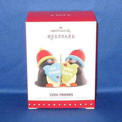 Hallmark - 2015 Cool Friends - Penguins - Keepsake Christmas Ornament - NEW