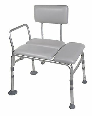 Drive Medical Padded Transfer Bench With Arms Bath Shower