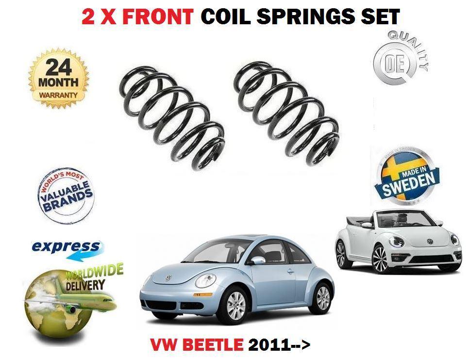 Für VW Beetle 1.2 1.4 TSI 1.6tdi 2.0 2011  Neu 2x Vordere Spiralfedern Satz