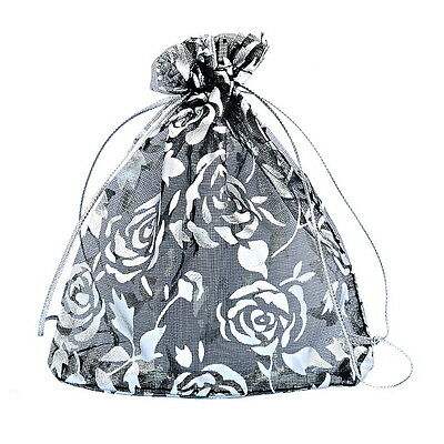 25PCs 10x11.6cm Black Packaging Rose Gift Bags Pouches Wedding/Christmas Favor