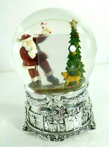 Kirkland-Musical-Photo-Frame-Water-Globe-034-I-Love-Santa-Clause-034-Song-Holiday