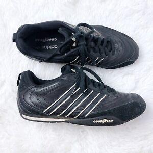 En expansión Género Magnético  Adidas Goodyear Racer Sneaker hombres 9 Negras Ante De Imitación Bajo Top  Trefoil logotipo | eBay