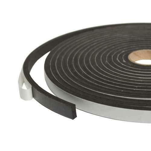 Sponge Neoprene Stripping With Adhesive 3//4 inch Wide X 1//8 Inch Thick X 50