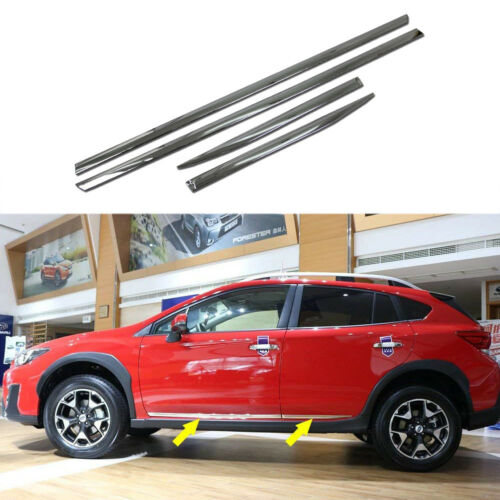 Chrome Body Side Molding Cover Trim Garnish fits Subaru XV//Crosstrek 2018 2019