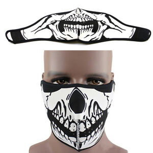 Details about Skull Ghost Half Face Mask Sport Ski Snow Snowboard  Motorcycle Cycling Windproof