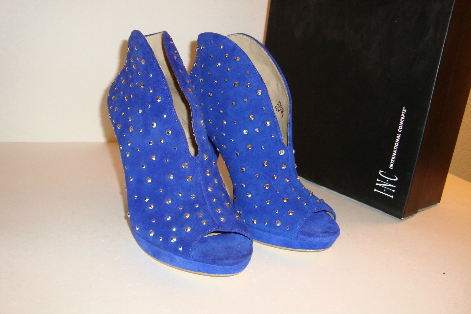 INC International Concepts Damenschuhe Tiara Blau Brite Ink Heels Schuhes 5.5 MED NEU