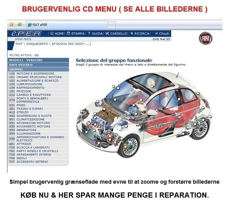 FIAT EPER Del Katalog 2010, Fiat EPER Reservedelskatalog