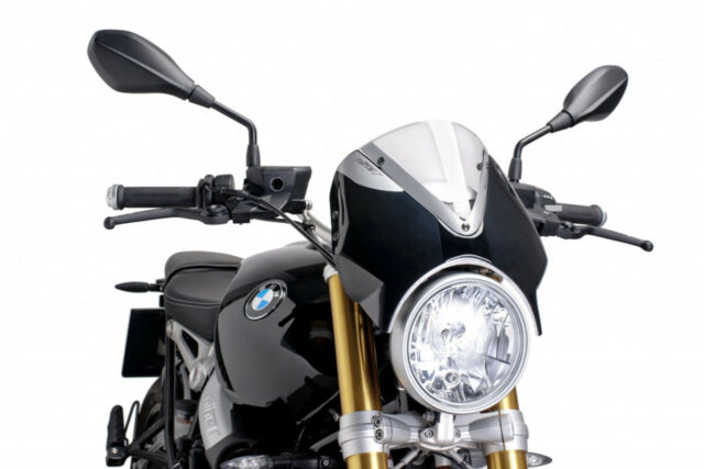 PUIG WINDSHIELD RETRO FOR BMW R NINE T PURE 17-20 CLEAR-BLACK