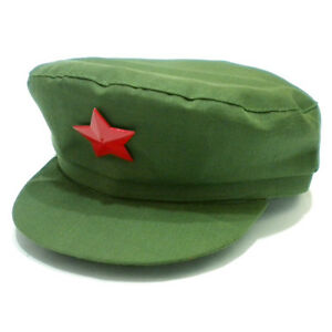 China Red Army Cotton Cap Hat Red Star Chairmen Mao Communist Party ... 9f558ddf2bc7