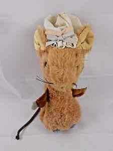 Vintage-Eden-Mouse-Plush-w-Bonnet-8-034-Stuffed-Animal