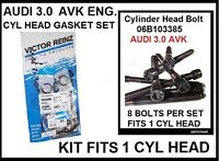 Cylinder Head Gasket Set With Bolts 2002-05 A4 A6 Fits 3.0 Engines Only; 1 Side
