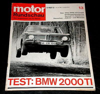 Gp Von Holland Logisch Motor Rundschau 13/67 Bmw 2000 Ti,glas 3000 V8 Coupé Wankel-nsu Weich Und Rutschhemmend