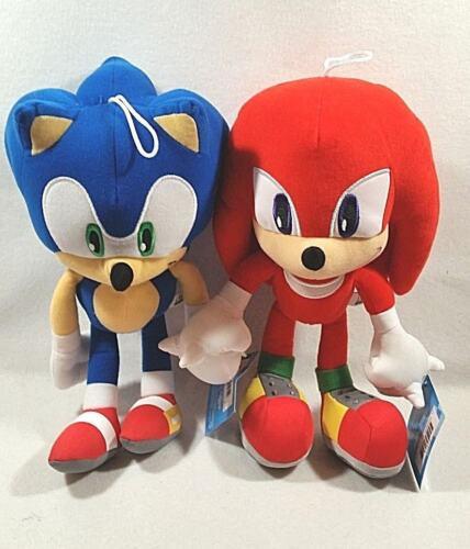 "Sega Sonic The Hedgehog Video Game Sonic /& Knuckles Stuffed Plush Doll 12/"" Set"