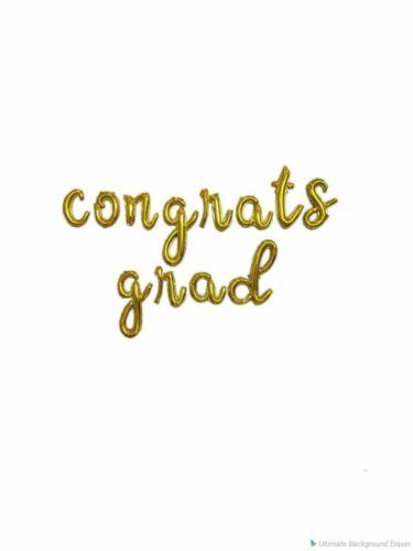 """16/"""" Script /""""congrats grad/"""" Cursive Balloon Foil Letters Party Balloons Parties P"""