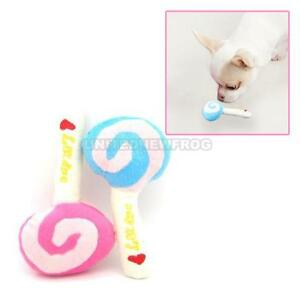 Lovely-Pet-Dog-Puppy-Animal-Squeaky-Squeaker-Sound-Chew-Toy-Cotton-Wool-Lollipop