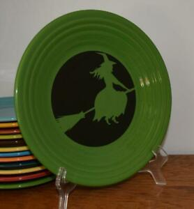 Fiesta-SHAMROCK-Moon-Lit-Witch-9-034-Luncheon-Plate-1st-Quality