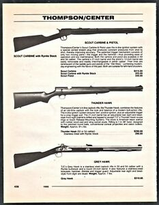 1995-THOMPSON-CENTER-ARMS-Scout-Carbine-Thunder-amp-Grey-Hawk-Caplock-RIFLE-AD