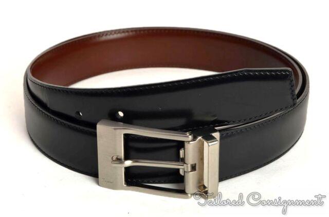 SALVATORE FERRAGAMO Black Brown Reversible Mens Leather Dress Belt - 37 69651d0bfe