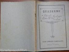Vecchio quaderno LICEO GINNASIO PAREGGIATO DELLA BADIA DI CAVA DEI TIRRENI epoca