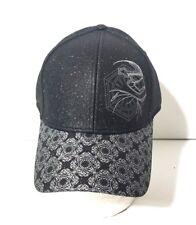 93d1bd2d1d5 Disney Parks Star Wars Captain Phasma Baseball Cap Hat Black Silver Glitter