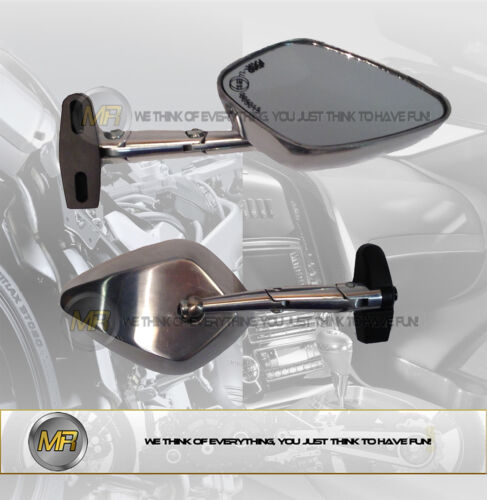 FOR DUCATI SS 800 H.F. 2003 03 PAIR ALUMINIUM REAR VIEW MIRRORS E13 APPROVED SPO