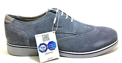 GEOX DANIO U620TA DK GREY scarpe uomo polacchine francesine inglesine camoscio | eBay