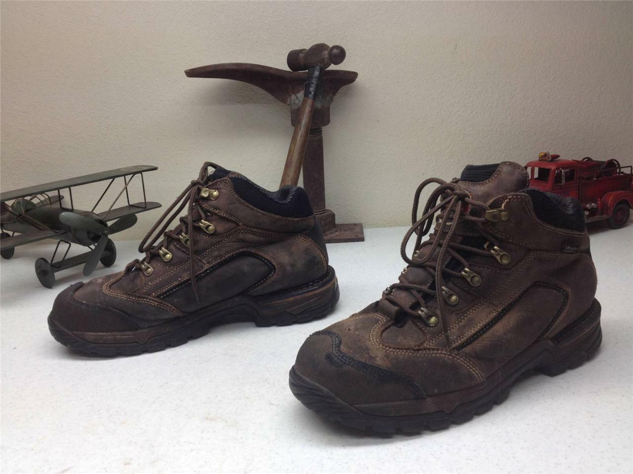 BROWN LEATHER LACE UP ULTRA DRY WATERPROOF STEEL STEEL STEEL TOE RED WING BOOTS  10 M c36e21