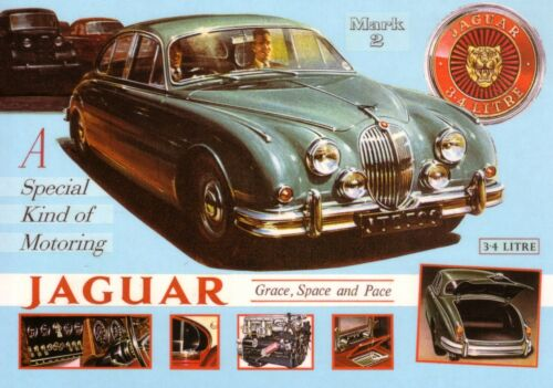 Jaguar Mk 2 3.4 1960 Car Jumbo Fridge Magnet