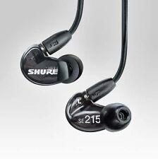 SHURE SE215-K Black Sound Isolating In-Ear DJ Monitoring Earphones Headphones