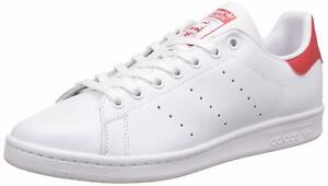 Détails sur ADIDAS STAN SMITH BLANC ROUGE Baskets Hommes White Red Sneakers  M20326