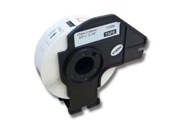 original vhbw®DRUCKER ETIKETTEN 17x54mm STANDARD für BROTHER P-touch DK-11204