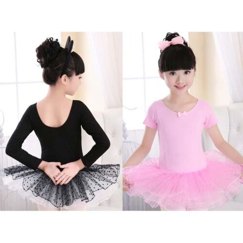 Child Girls Kids Leotard Dance Dress Costumes Lace Ballet Tutu Skirt Dancewear