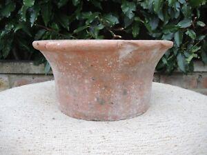Round Half Height Terracotta Plant Pot