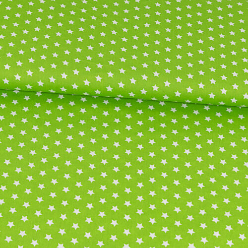 Precio = 0,5m De toalla limegrün con blancos estrellas sustancias de moda infantil sustancias