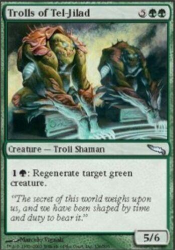 English -BFG- MTG Magic x4 4x Mirrodin Near Mint Trolls of Tel-Jilad
