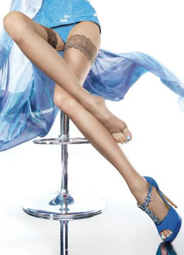Toeless Fiore Eluxa 20 Denier Classic Sheer Open Toe Summer Hold Ups