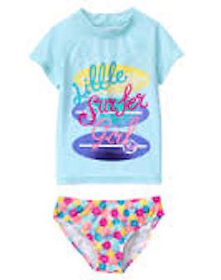 NWT Gymboree Seashell Rash guard SET 4 5 6 7 8 10 12 Swim shop Girls UPF 50+