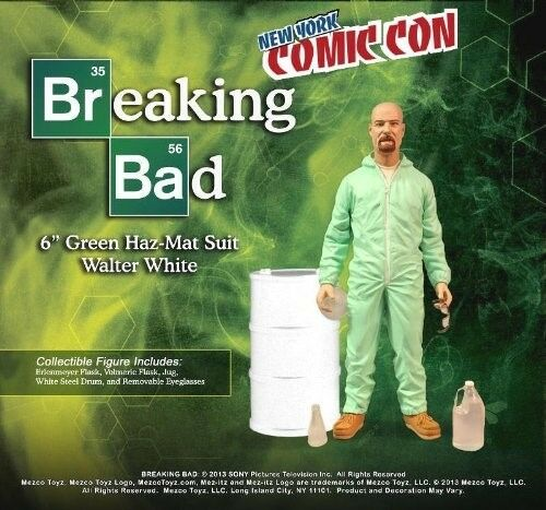 Mezco 2013 NYCC Exclusive Breaking Bad Walter Weiß Grün Hazmat Suit Deluxe NIB