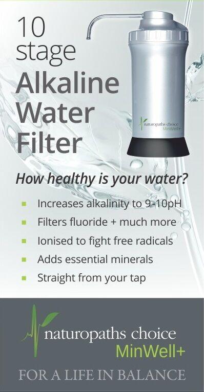 NEW Naturopaths Choice MinWell+ Alkaline Water Filter, Ionizer, adds minerals