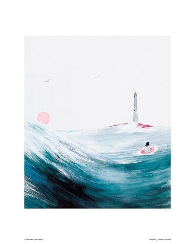 Moomin Poster Moominpappa at Sea 24 x 30 cm Putinki