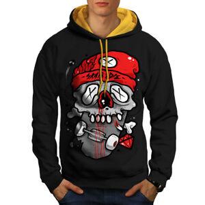 Wellcoda-Skate-Or-Die-Sport-Mens-Contrast-Hoodie-Skateboard-Casual-Jumper