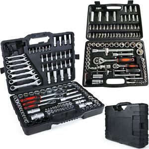 Knarrenkasten-Werkzeugkoffer-Ratsche-Knarre-Nuss-Steckschluesselsatz-Werkzeug