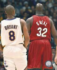 Kobe Bryant LA Lakers + Shaquille O'Neal Shaq Miami Heat picture 8x10 photo