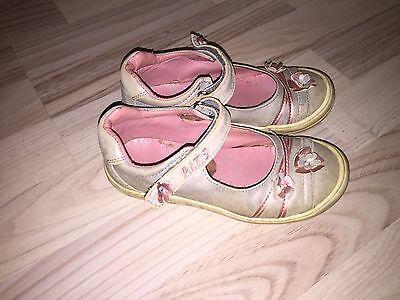 Ballerina Ballerinas Rosa Grau Silber Gr. 28 Mädchen