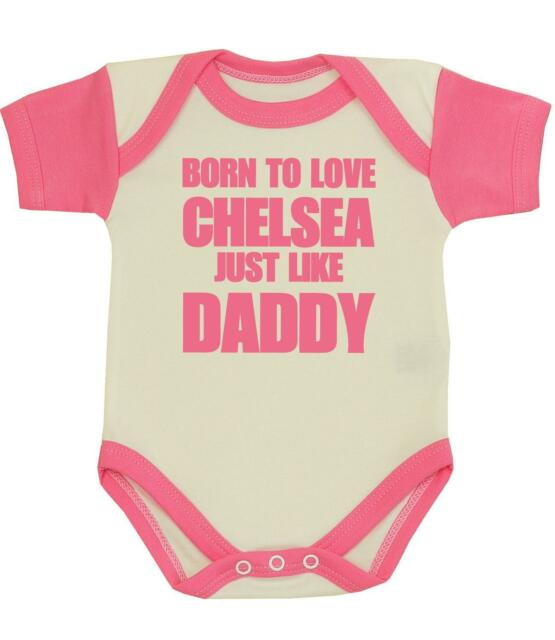 f23ad42e9 BabyPrem Baby Clothes Chelsea Daddy Bodysuit Vest Fun Shower Gift ...
