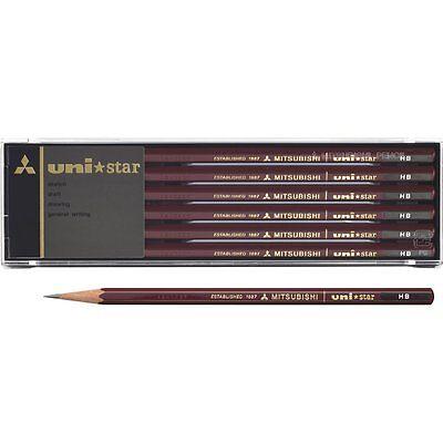 Mitsubishi Uni UNI-STAR H Wood-cased Pencil 12-Count USH
