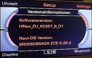 Mise à jour GPS 6.30.1 MMI 3G High 2020 Audi